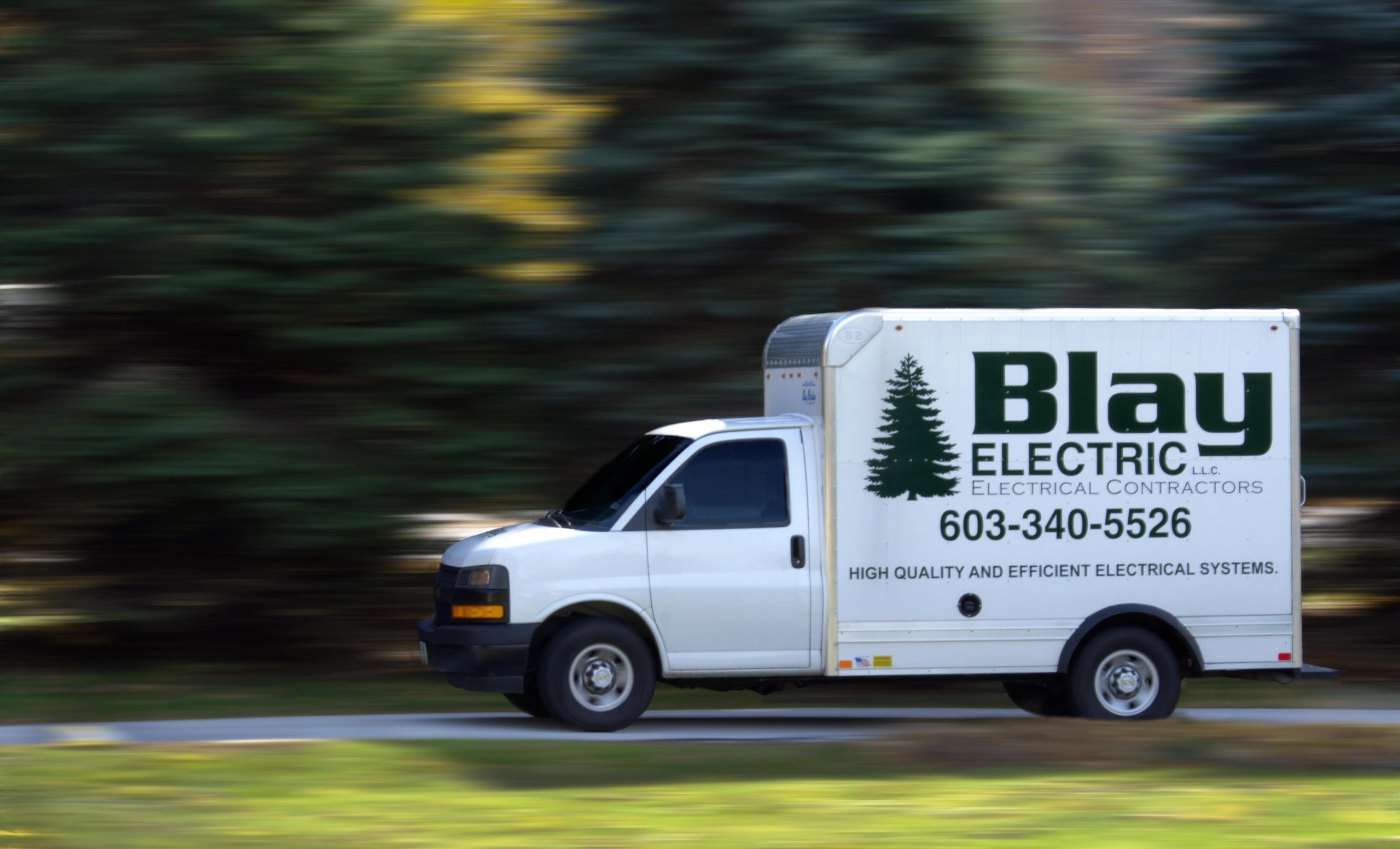 Blay Electric, Electrical Contractors service truck.