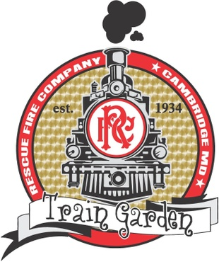 Rescue Fire Company Train Garden