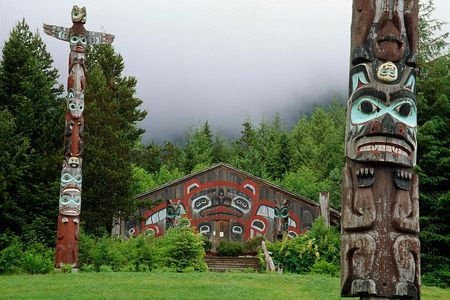 Worlds largest collection of totem poles with Reel Alaska fishing charters in Ketchikan Alaska