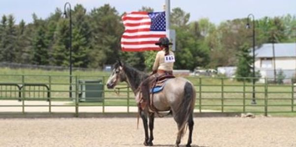 Madeline Wagner, Equine massage, Drill team, rescue horses, patriotic, western riding, horse show