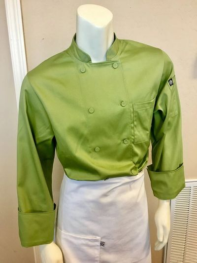 Chef shirt and waist chef apron.