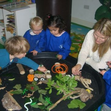 Learning about wildlife at The Butterfly Preschool