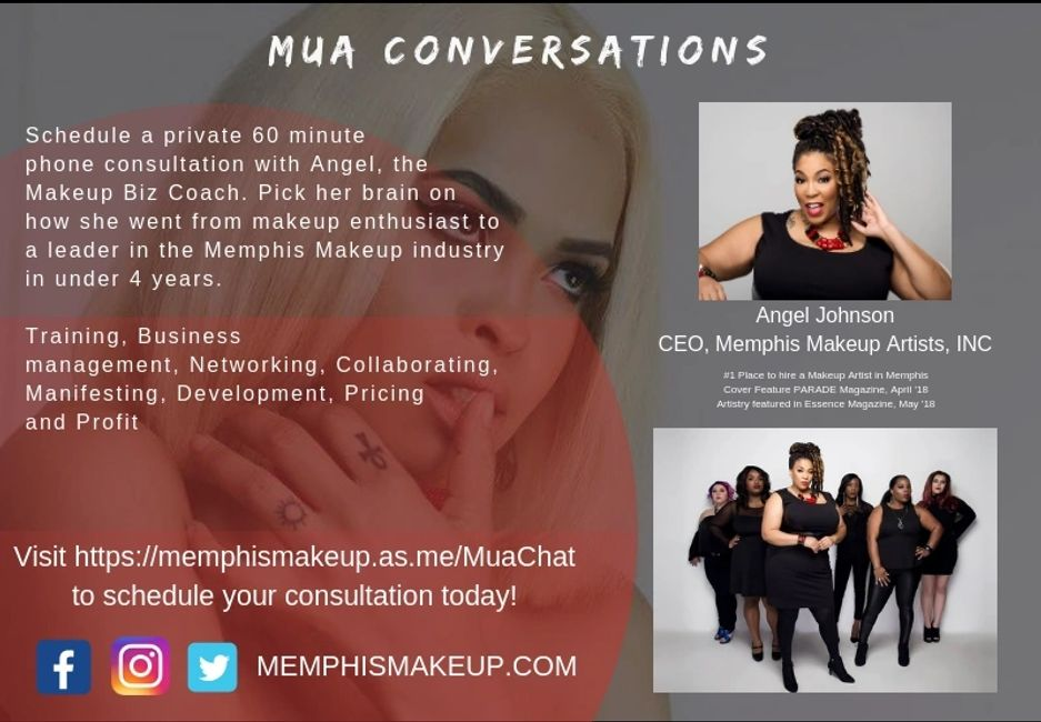 Angel Johnson, Angel the Makeup Biz Coach, Makeup artist, memphis mua, memphis makeup artist