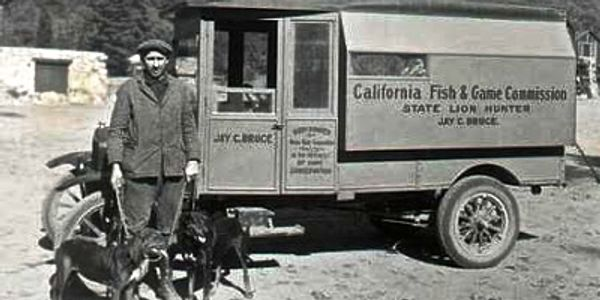 This Jay Bruce who was the first California State Lion Hunter. During his career he killed close to 700 Lions (Cougars).