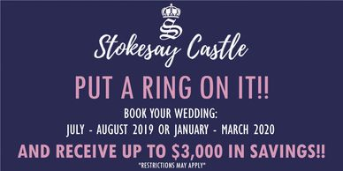 Receive up to $3,000 off your wedding!
