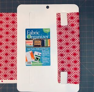 How to start wrapping your fabric, by securing the start with 2 or 4 tabs.