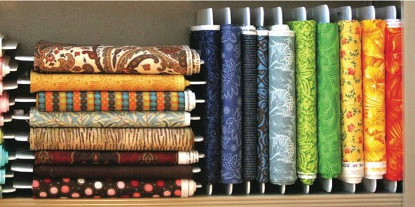 Fabric on a Shelf