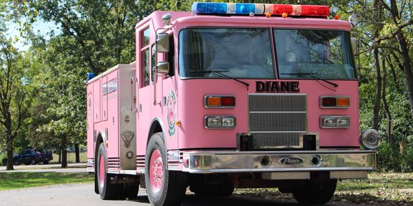 pink fire truck cancer visits