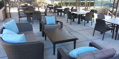 we design areas for your customers to enjoy and hang out