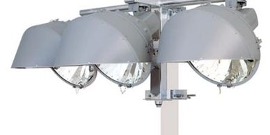 LED lights that light up your facility and tennis/ pickleball courts