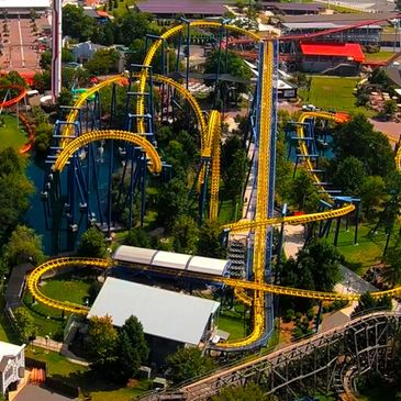 Nighthawk Rollercoaster At Carowinds Amusement Park In North Carolina