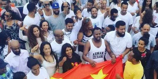Image was taken at the Tigray Festival, Boat party hosted by UTYNA in DC, on Agust 2018.