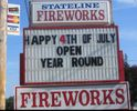 Locally owned fireworks store right on the NC/TN state line.