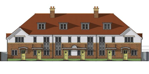 Architectural Elevation of 6 Houses - Worthing Borough Council - Distinction in Building Award 2012