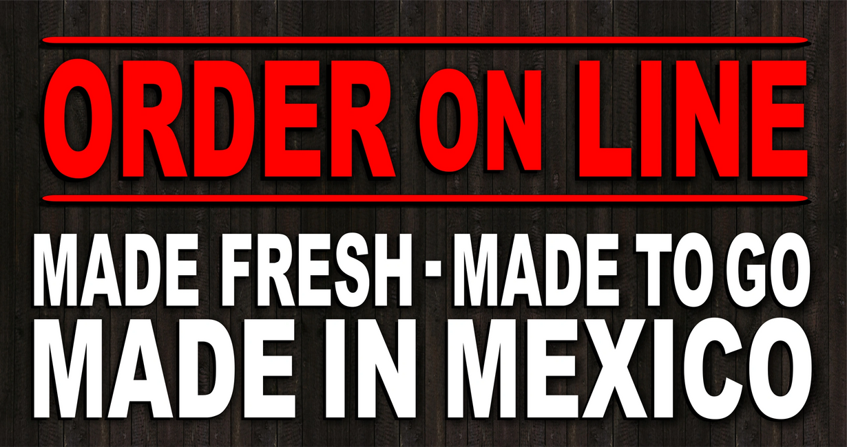 Order On Line for fresh Mexican food. Tacos, Burritos, Quesadillas, Churros, take out