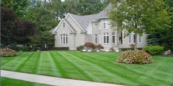 Beautifully manicured lawns