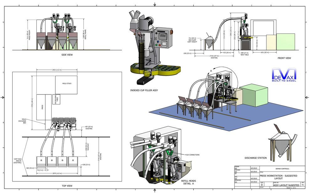 DEMAX CONTROLS: Custom Mechanical Design, Layout to Fabrication Drawings