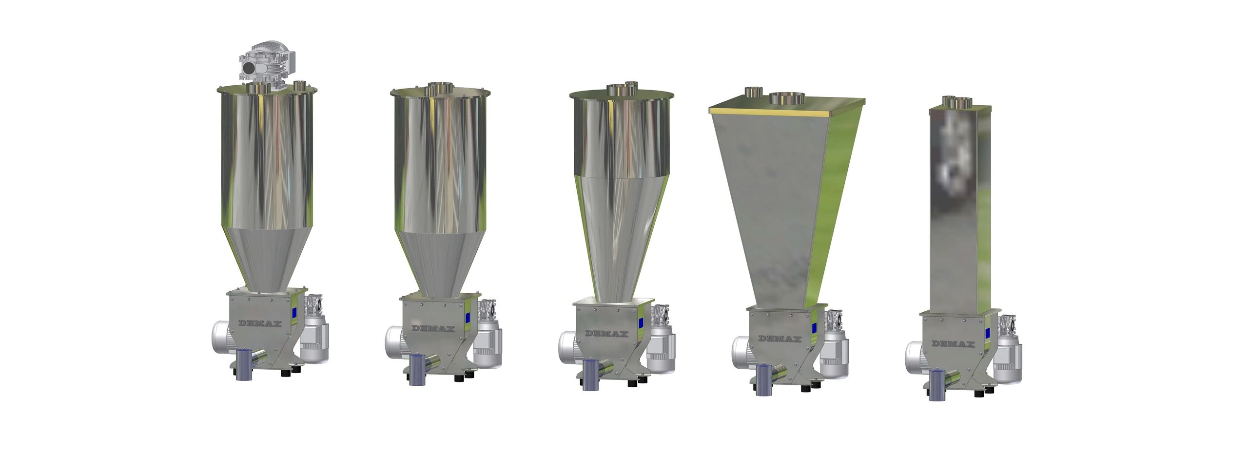 Auger Feeders in various Hopper Configurations