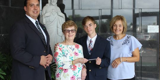 Reffler family supports Holy Cross student with scholarship