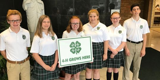 Holy Cross students participate in local 4H