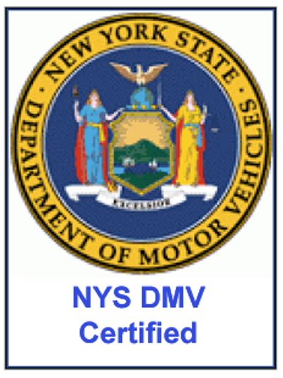 Bell Auto Driving School is Certified by the NYS Department of Motor Vehicles