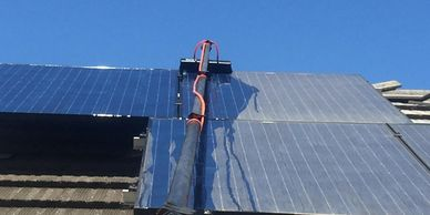 solar panel cleaning washing residential san diego solar maintenance