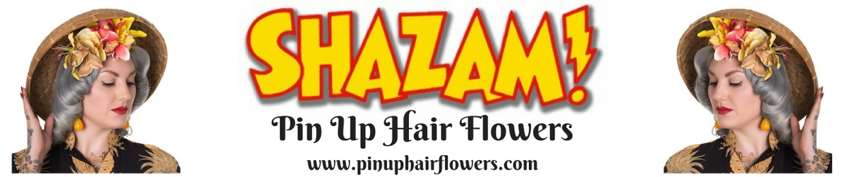 Shazam! Pin Up Hair Flowers