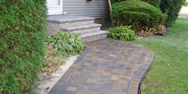 Long Island Masonry contractor  Patio Walkways brick pavers Brick  stoop Suffolk county