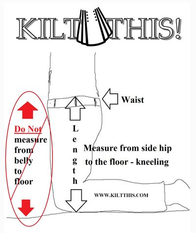 Measurement directions for kilts by Kilt This Seattle WA