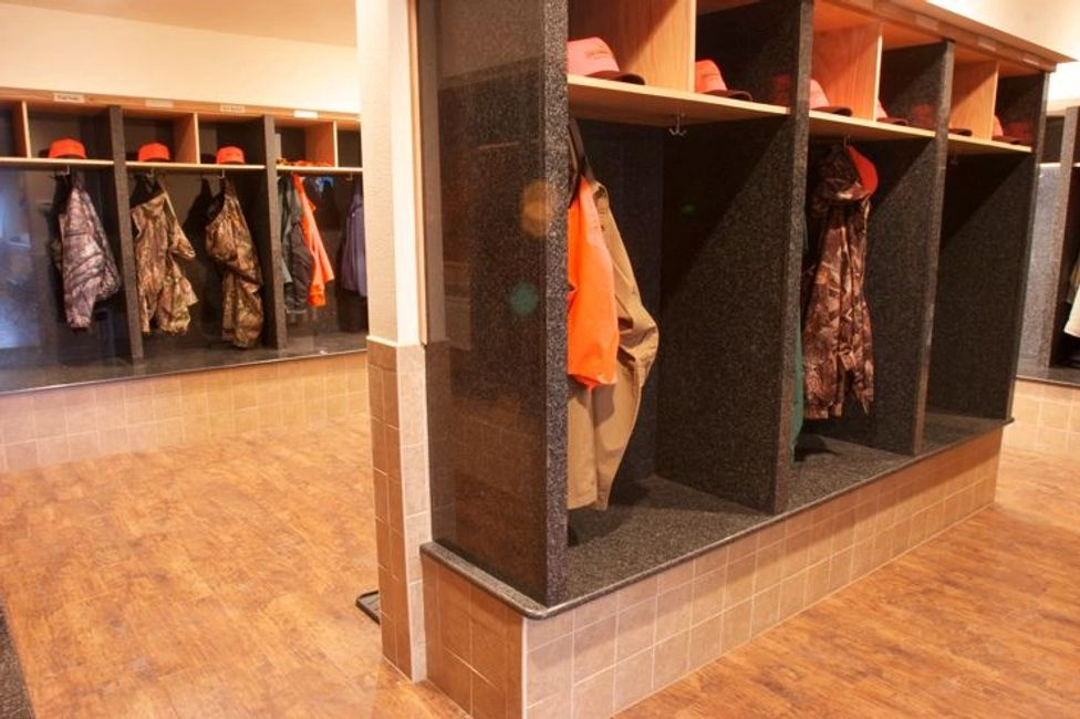 Personalized lockers at The Signature Lodge by Cheyenne Ridge Outfitters