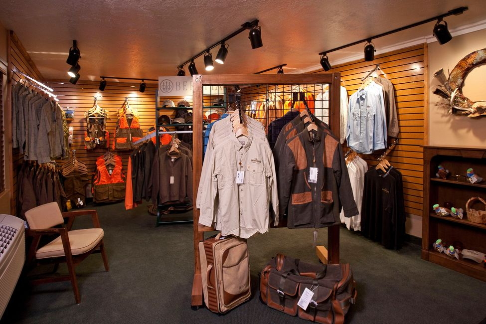 ProShop carrying Beretta, Eddie Bauer, Filson, and more at The Signature Lodge by Cheyenne Ridge