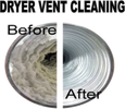 Dryer vent cleaning, dryer vent safety