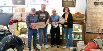 Mary and Roger James hauled the Hensel Collection from Wisconsin to the AACA Library in Hershey, PA.