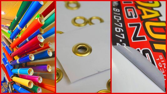 banners, stickers, vinyl, grommets, sign shop, sign store sticker store