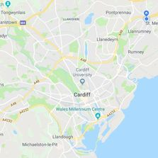 Map Cardiff Penarth Barry Llanrumney Llanederyn Radyr
