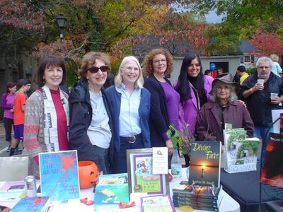 At a street fair with members of the Pound Ridge Authors Society