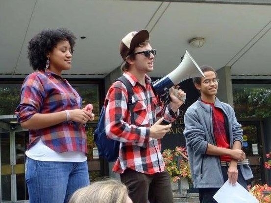 Brown Library Rally, 2010.