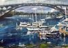 Gladesville Bridge after Storm - acrylic on canvas (50x60cm) SOLD