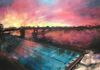 Drummoyne Pool at Sunset - acrylic on canvas (50x60cm) SOLD