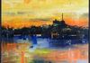 Abbotsford Silhouette - oil on canvas (76x96cm) $1,100