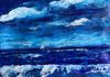 Serenity Blue - mixed media on canvas paper (30x40cm) SOLD