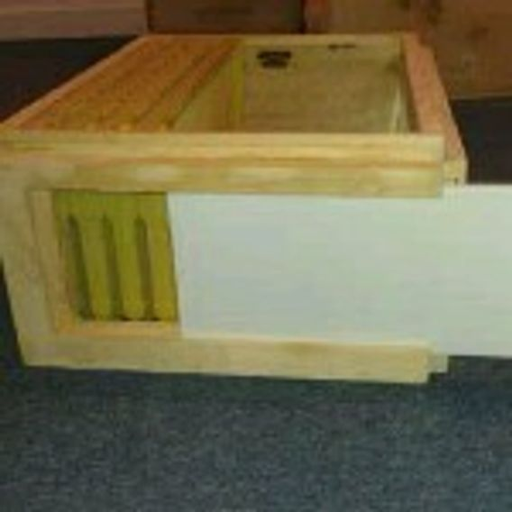Patented Observation Hive Body. Using real double strength glass. View your bees 24/7, 365 days/yr.