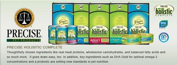 Precise Holistic Complete Food for dogs & cats available locally at Wine Country Pet Boutique & Spa