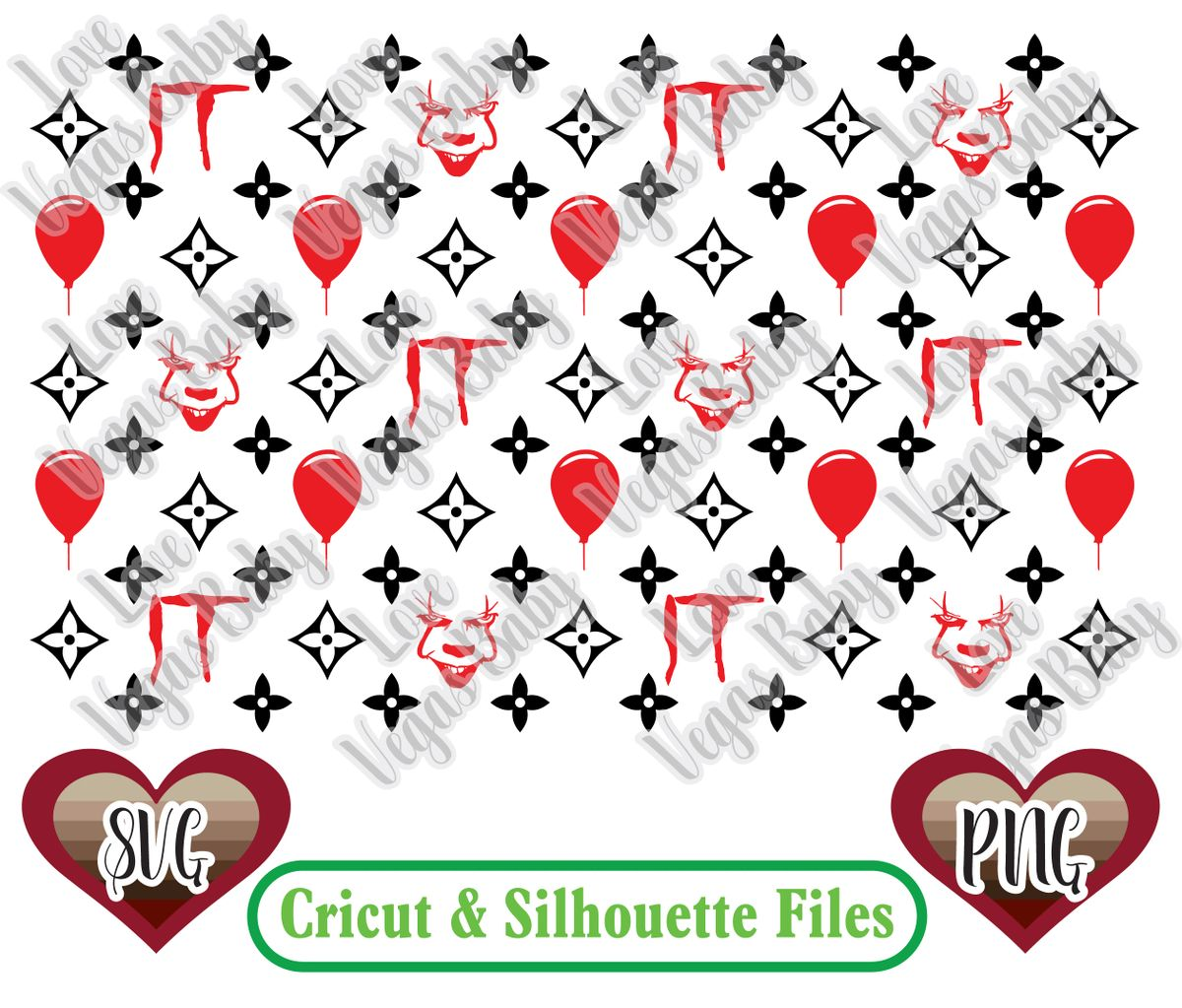 Pennywise Lv Inspired Pattern Svg