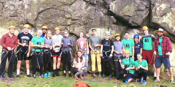 Learn to climb event with the Tufts Mountain Club.