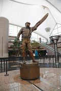 Vail Transportation Service Jeppeson Statue at DIA.