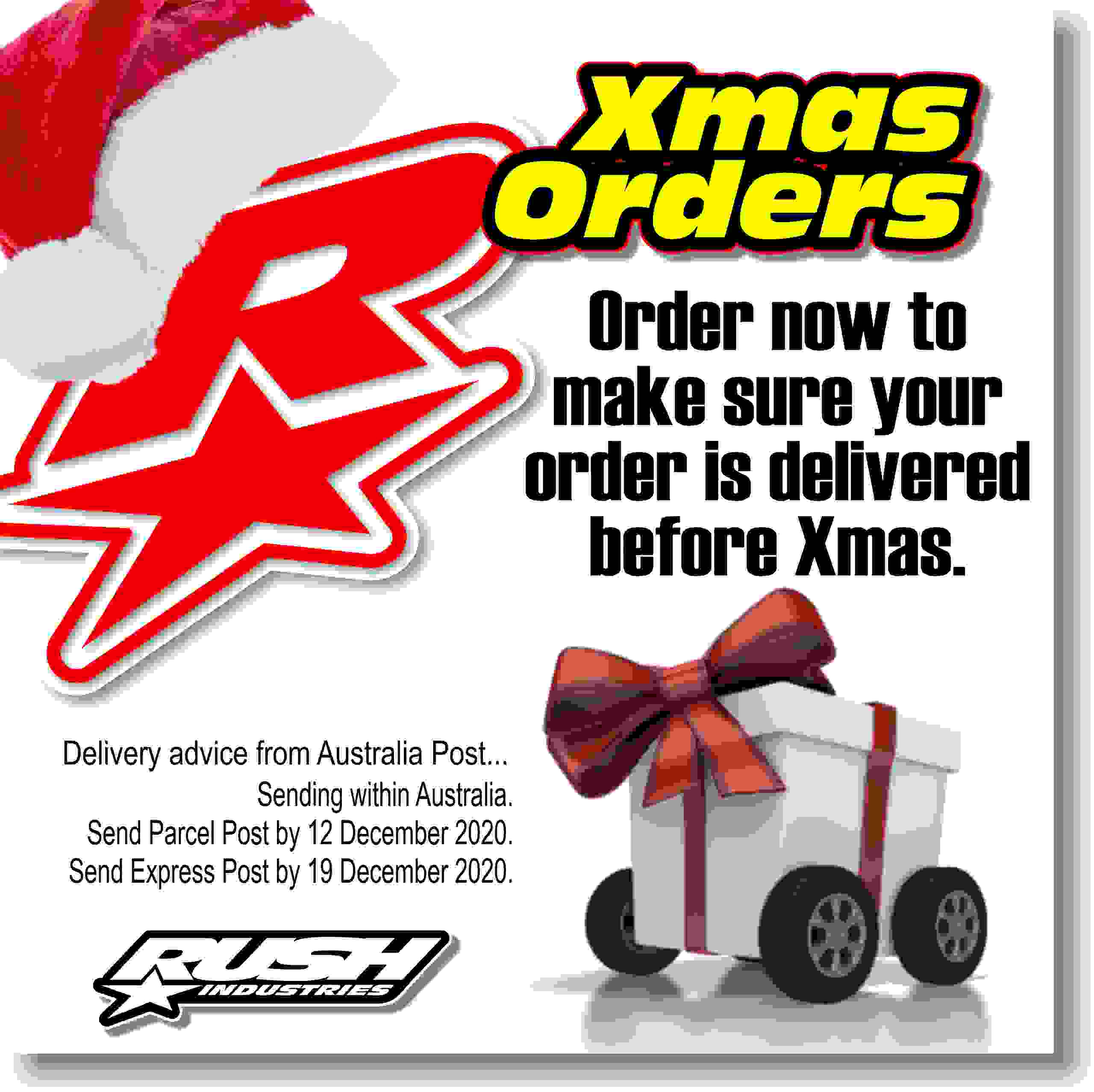 Rush Industries Christmas Delivery