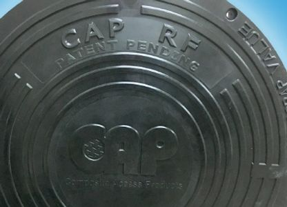 CAP RF composite manhole cover with RFID for asset tracking, GIS, data storage