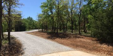 Tree removal, grading and gravel in Bartonville, Texas.