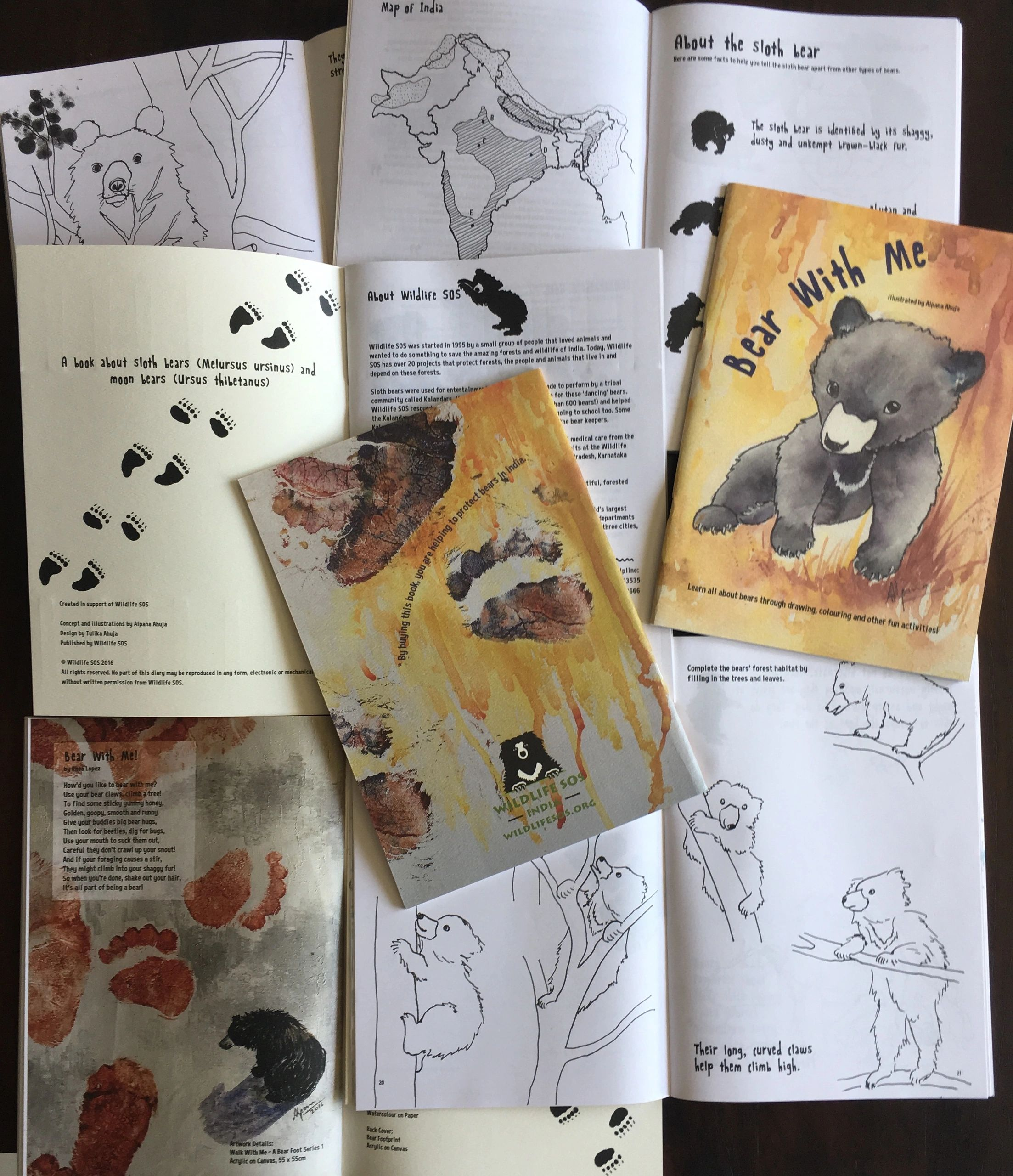 "{""blocks"":[{""key"":""37nfb"",""text"":""Bear With Me (2016). An activity book compiling research into India's bears and their habitats. Targeted at children and young adults, it has 52 pages of art activities."",""type"":""unstyled"",""depth"":0,""inlineStyleRanges"":[{""offset"":0,""length"":13,""style"":""BOLD""}],""entityRanges"":[],""data"":{}}],""entityMap"":{}}"